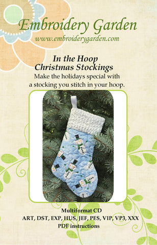Embroidery Garden In the Hoop Christmas Stockings