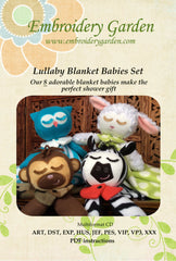 Embroidery Garden Lullaby Blanket Babies Set