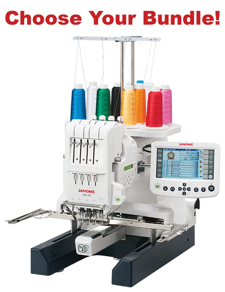 Janome MB-4S Embroidery Machine - Bank Vacuum Bundles Available!