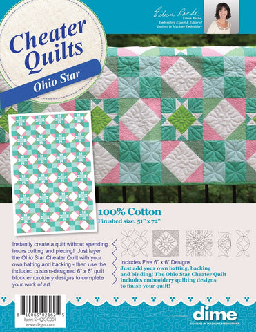 DIME Cheater Quilts - Ohio Star