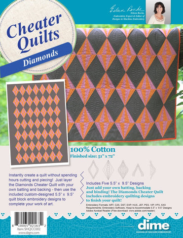 DIME Cheater Quilts - Diamonds