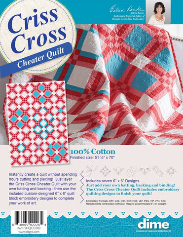 DIME Cheater Quilts - Criss Cross