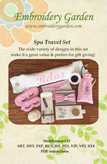 Embroidery Garden Spa Travel Set