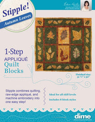 DIME Stipple! One-Step Quilting & Appliqué - Autumn Leaves