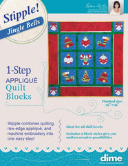 DIME Stipple! One-Step Quilting & Appliqué - Jingle Bells