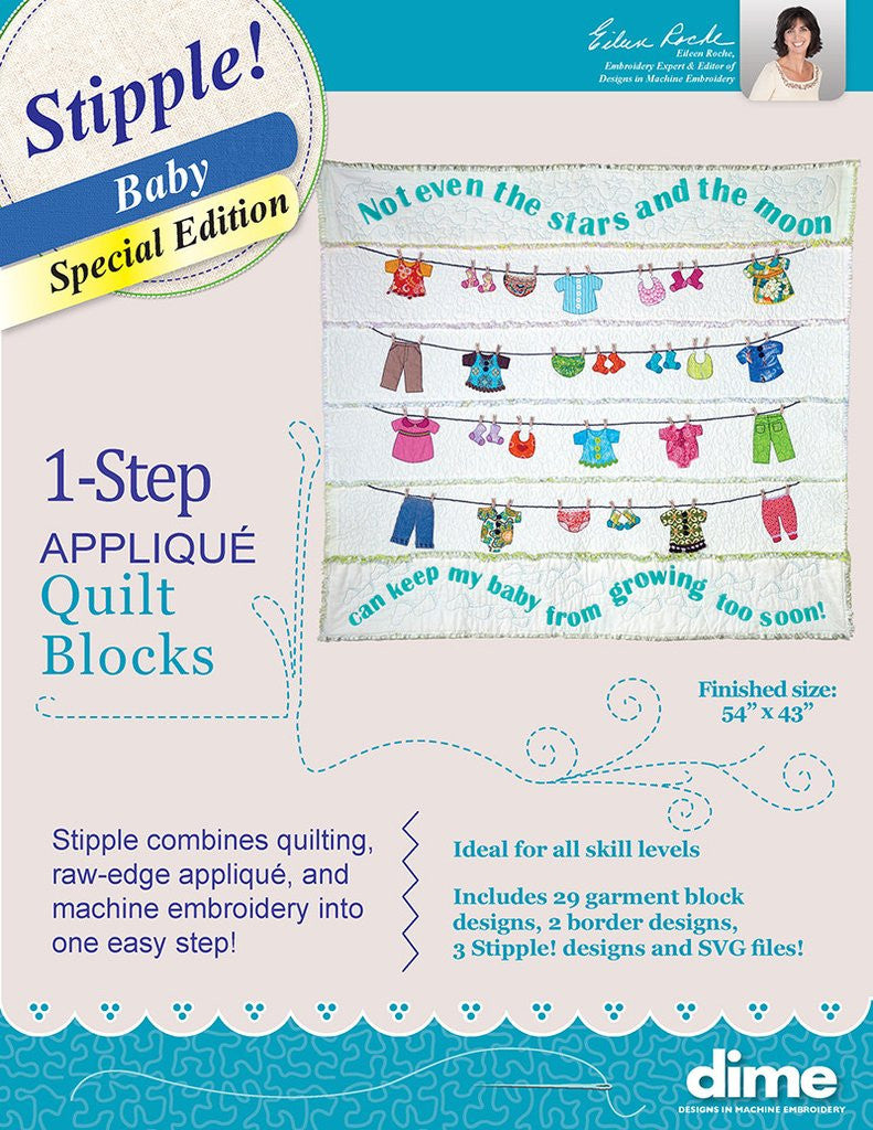 DIME Stipple! One-Step Quilting & Appliqué - Special Edition - Baby