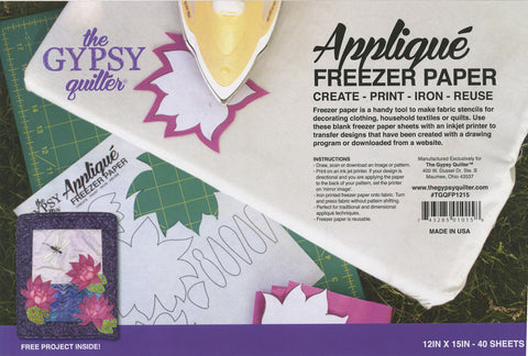 Gypsy Quilter Freezer Paper