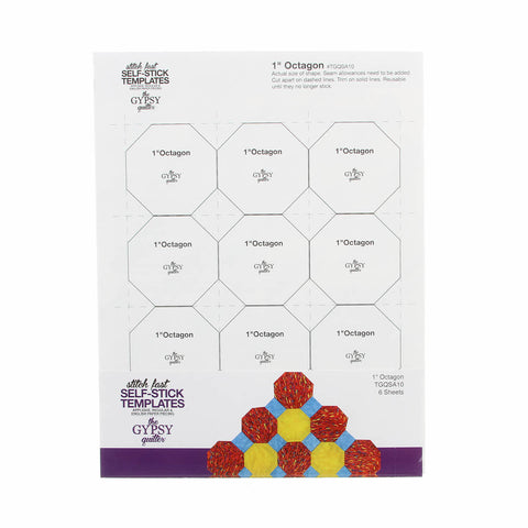 "Gypsy Quilter Stitch Fast Self-Stick Template 1"" Octagon"