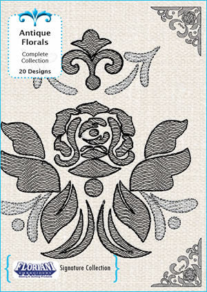 Floriani Embroidery Designs - Antique Florals