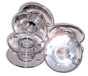 Brother SA155 Clear Plastic Bobbins 9.4 Size