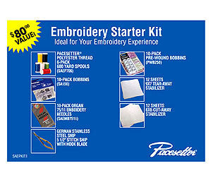 Brother SAEPKIT1 Pacesetter Embroidery Starter Kit