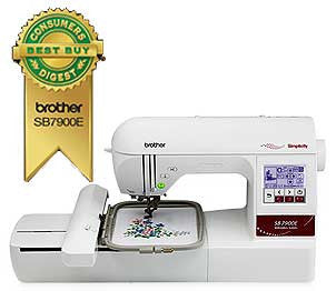 Simplicity SB7900E Embroidery Machine With Lettering Software