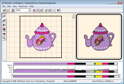 Buzz Tools Buzzsize Embroidery Design Resizing Software Tops