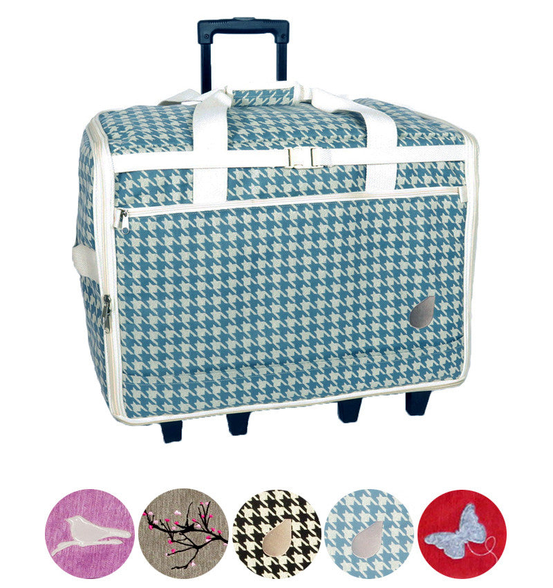 Bluefig Designer Series 40 Wheeled Sewing Machine Bag For Large Interesting Sewing Machine Carriers With Wheels