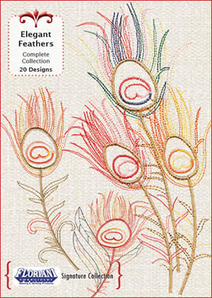 Floriani Embroidery Designs - Elegant Feathers