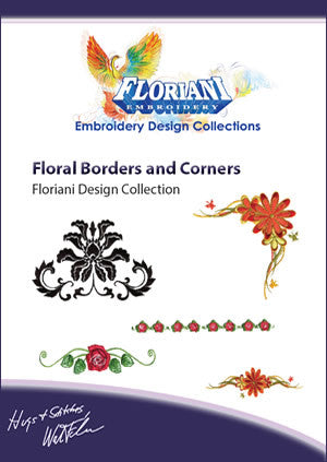 Floriani Embroidery Designs - Floral Borders And Corners