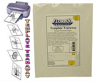 Floriani Template Tearaway Placement Paper