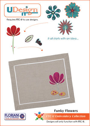 Floriani UDesign It Embroidery Designs - Funky Flowers
