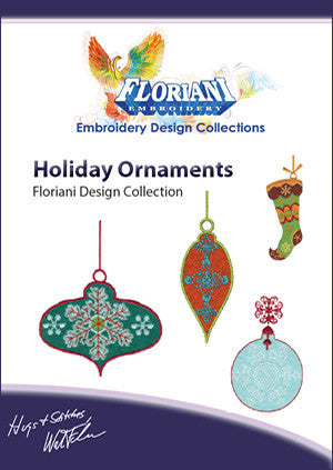 Floriani Embroidery Designs - Holiday Ornaments
