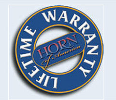 Horn Of America 3140 Lifetime Warranty