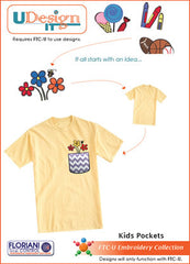 Floriani UDesign It Embroidery Designs - Kids Pockets