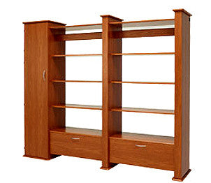 Koala Studios Creative Gallery Wall System Double Display Unit With 1 Closet - Left