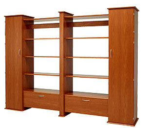 Koala Studios Creative Gallery Wall System Double Display Unit With 2 Closets