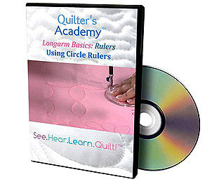 Handi Quilter Longarm Basics Rulers -- Using Circle Rulers DVD