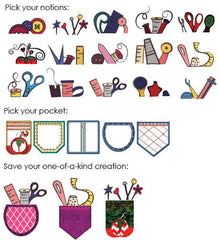 Floriani UDesign It Embroidery Designs - Pocket Full of Notions