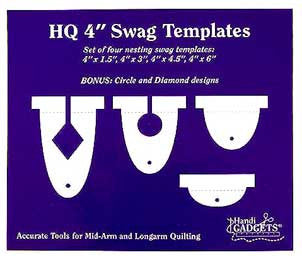 The HQ Ruler 4-Inch Swag Templates Set