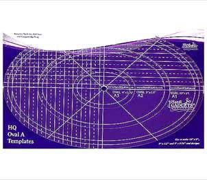 The HQ Ruler Oval A Template Set
