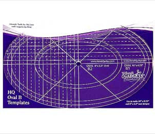 The HQ Ruler Oval B Template Set
