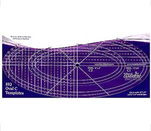 The HQ Ruler Oval C Template Set