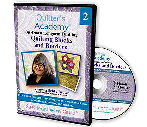 Handi Quilter Sitdown Longarm Quilting -- Quilting Blocks And Borders DVD