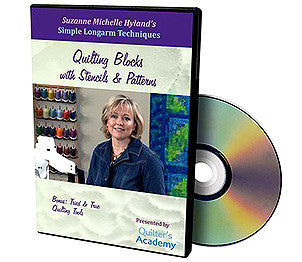 Handi Quilter Simple Longarm Techniques -- Quilting Blocks With Stencils And Patterns DVD