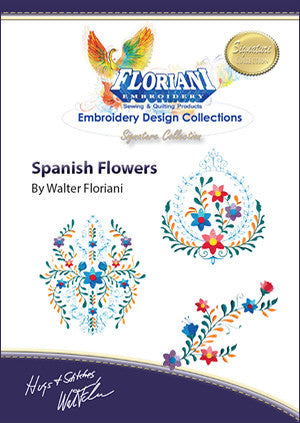 Floriani Embroidery Designs - Spanish Flowers