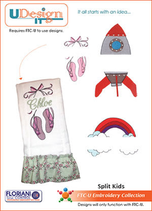 Floriani UDesign It Embroidery Designs - Split Kids