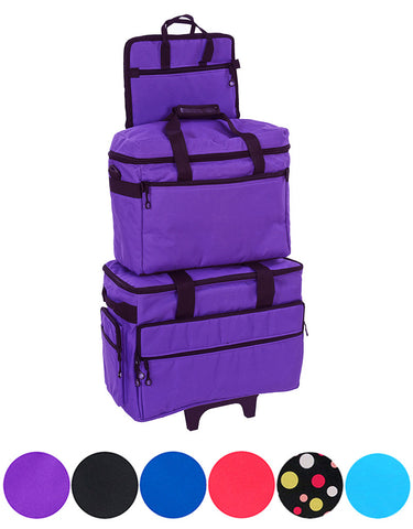 "Bluefig Brights Series 19"" Wheeled Sewing Machine Bag Combo Luggage Set"