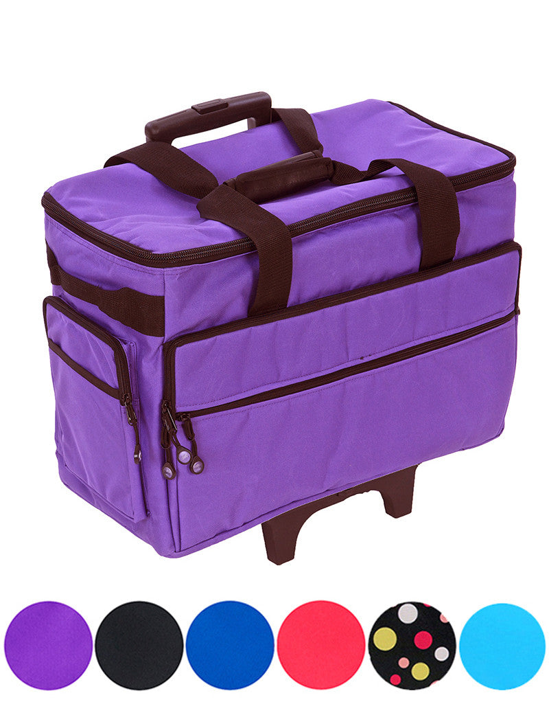 "Bluefig Brights Series 19"" Wheeled Sewing Machine Bag for Small to Medium Machines"