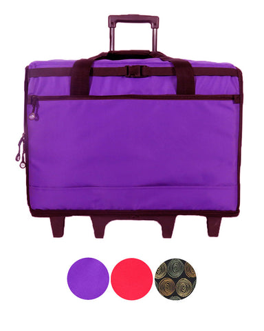 "Bluefig Brights Series 23"" Wheeled Sewing Machine Bag for Large Machines"