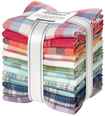 Fat Quarter Bundle - Mammoth Organic Flannel - Robert Kaufman - 13 fabrics - Organic quilting cotton - GOTS Certified - low impact dyed