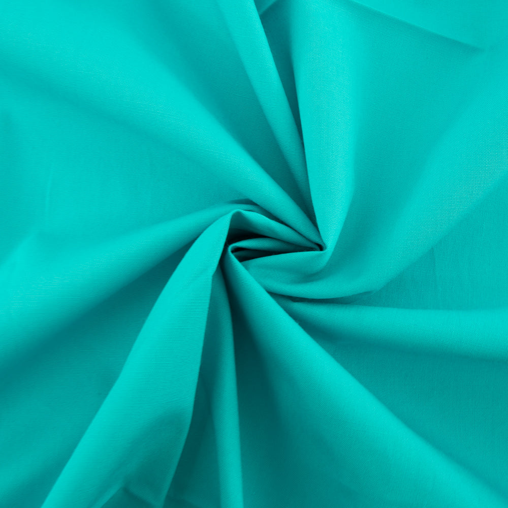 Organic Solid Poplin - Peacock - Birch Fabrics -  GOTS certified organic quilting cotton