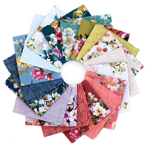 Wildflower Fat Quarter Bundle - Kelly Ventura - Windham Fabrics - Fat Quarters