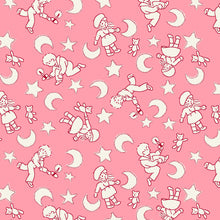 Load image into Gallery viewer, Kid pink - Storybook Sleepytime by Whistler Studios, Windham Fabrics half yard quilting fabric - moon stars children