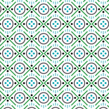 Load image into Gallery viewer, Uppercase Vol. 2 Button Green - Janine Vangool - Windham Fabrics half yard quilting fabric - circle grey white turquoise