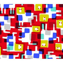 Load image into Gallery viewer, Roar red - Safari - Masaru Suzuki - Cotton + Steel half yard quilting fabric - blue white lion