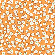 Load image into Gallery viewer, Mini floral peach - Storybook Sleepytime by Whistler Studios, Windham Fabrics half yard quilting fabric - orange white red