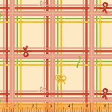 Load image into Gallery viewer, Sugarplum - Heather Ross - Windham Fabrics half yard quilting fabric - plaid cream pink red green yellow
