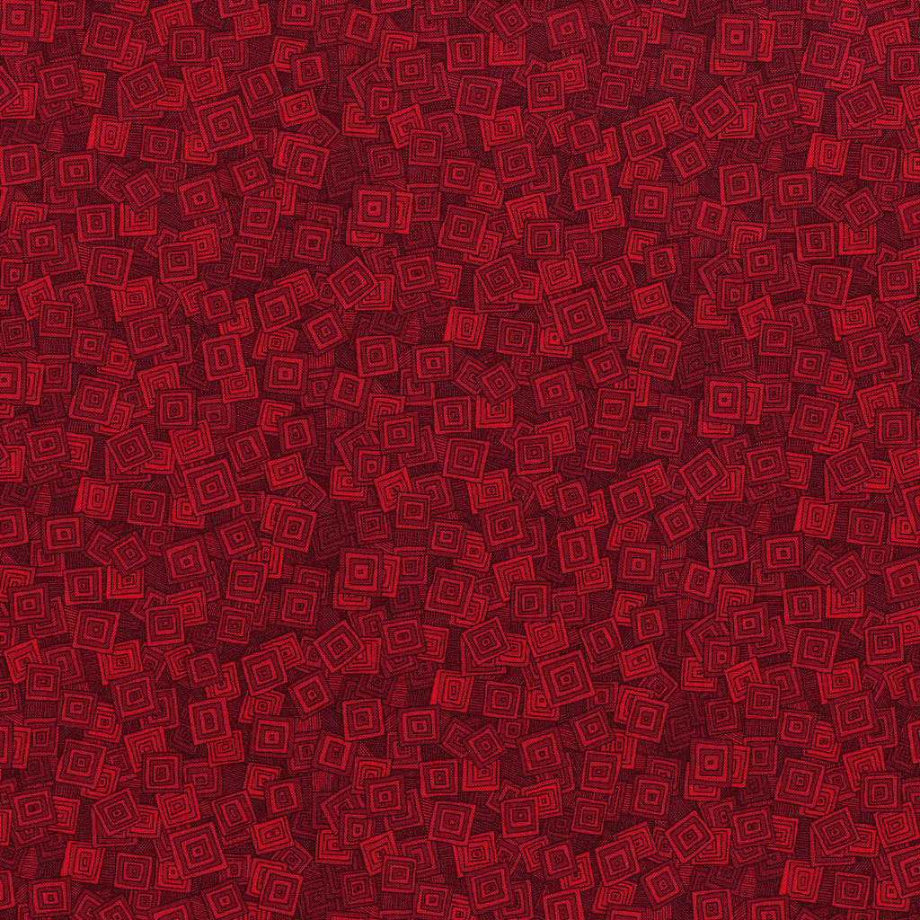 Hopscotch Overlapping Squares Scarlet - RJR Fabrics half yard quilting fabric - red