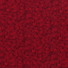 Load image into Gallery viewer, Hopscotch Overlapping Squares Scarlet - RJR Fabrics half yard quilting fabric - red